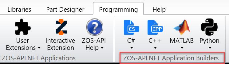 ZOS-API.NET Application Builders