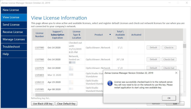 Check in license